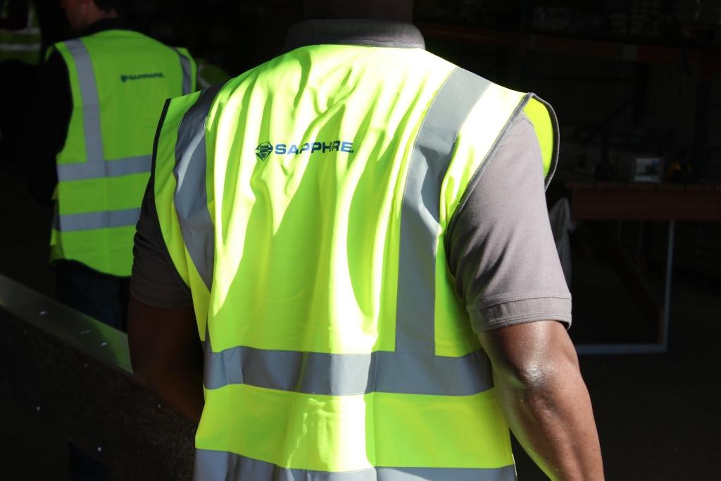 Sapphire Hi Vis PPE on Worker
