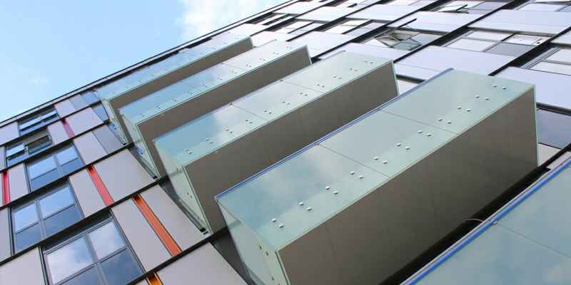 First Central Glide on etched glass balconies
