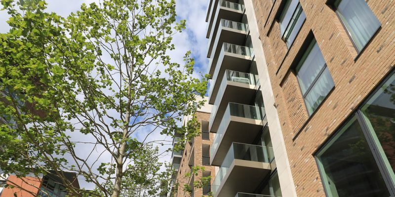 Project in Paddington, balconies positively drained with hidden RWP