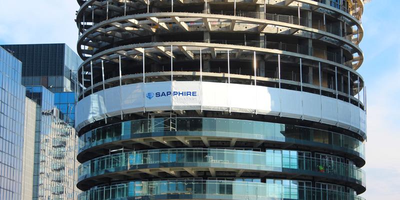 Sapphire Baltimore - protective screen and edge guard